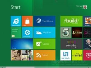 Windows 8 startscherm