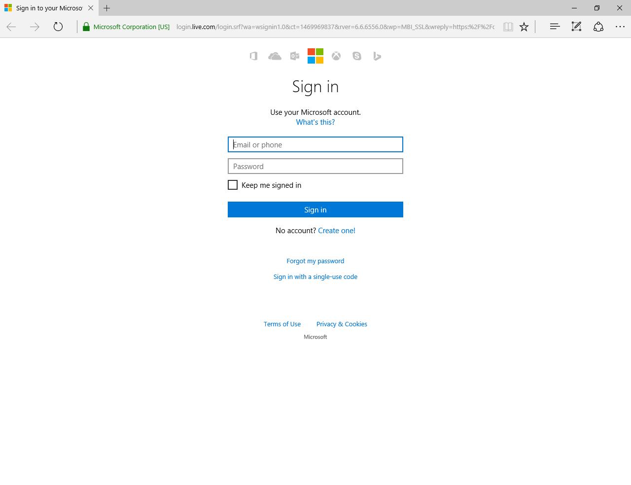 Inloggen met een Microsoft Account