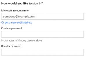 Maak een Microsoft Account aan